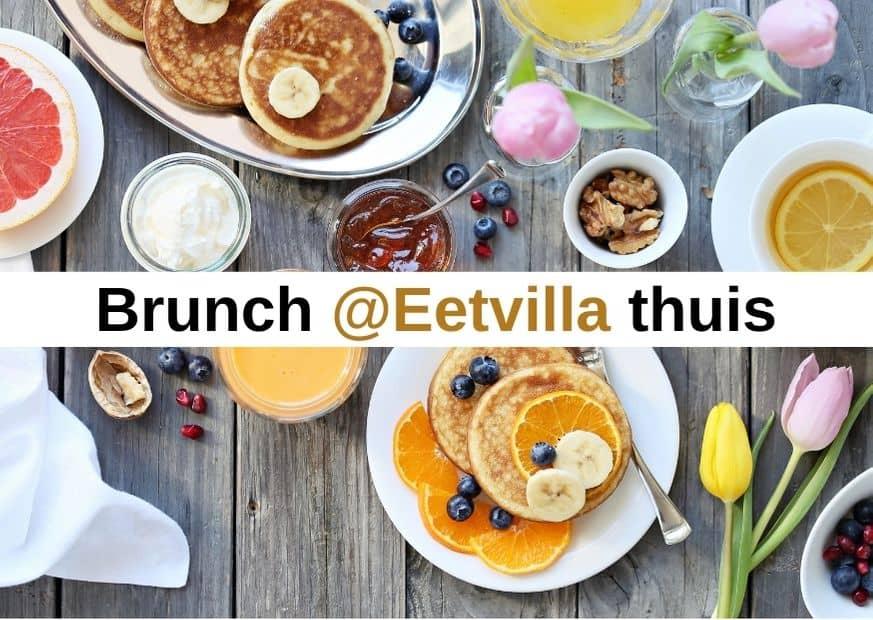 Een brunch voor thuis bestellen kan bij restaurant de Eetvilla. Samen genieten van een uitgebreide brunch voor de hele familie en vrienden.