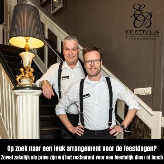 Op zoek naar een leuk restaurant voor kerstarrangementen? Welkom bij restaurant de Eetvilla in Soest.
