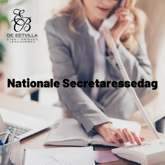 Nationale secretaressedag vieren bij restaurant de Eetvilla in Soest.